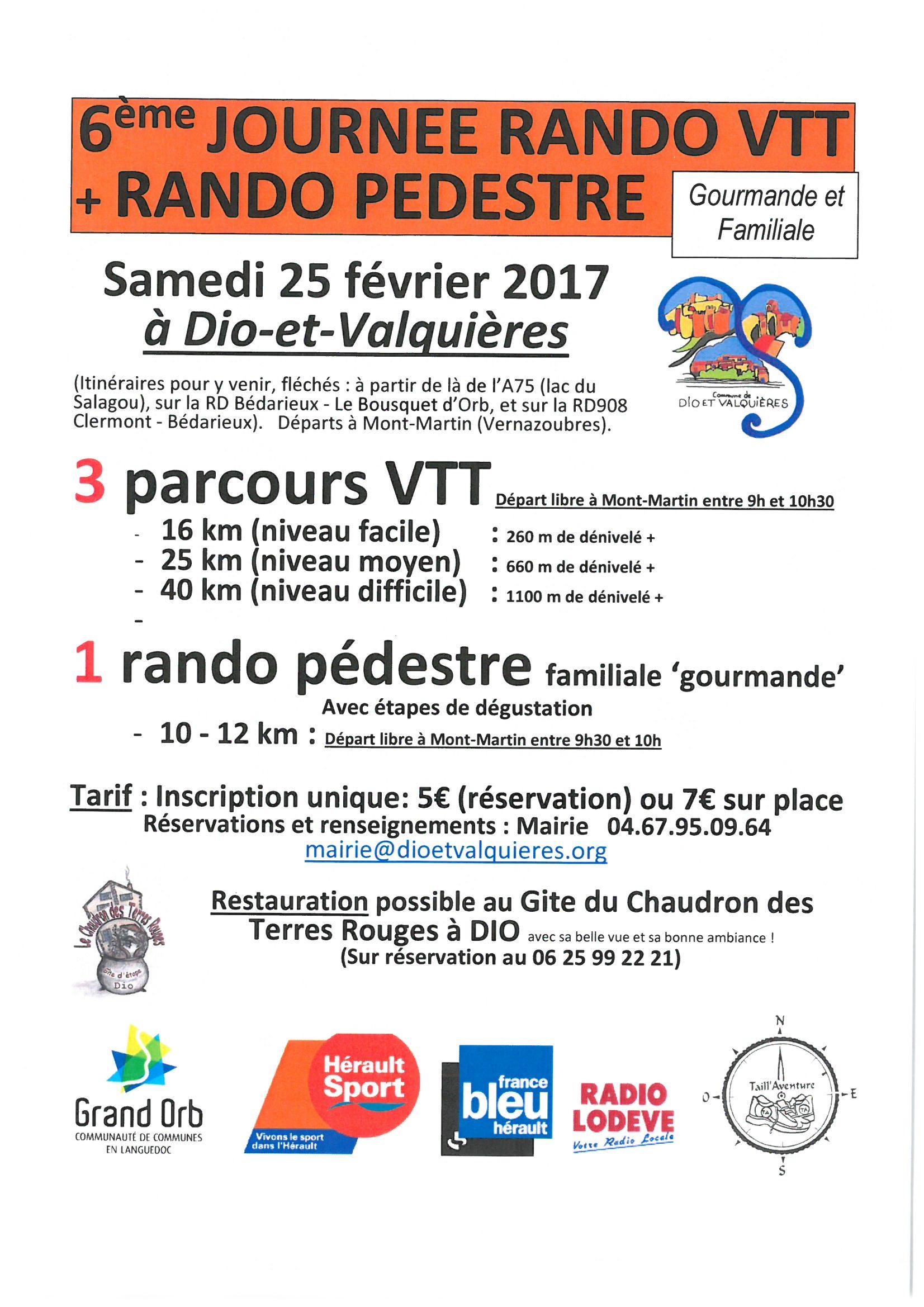 Rando VTT et Pédestre Gourmande 2017